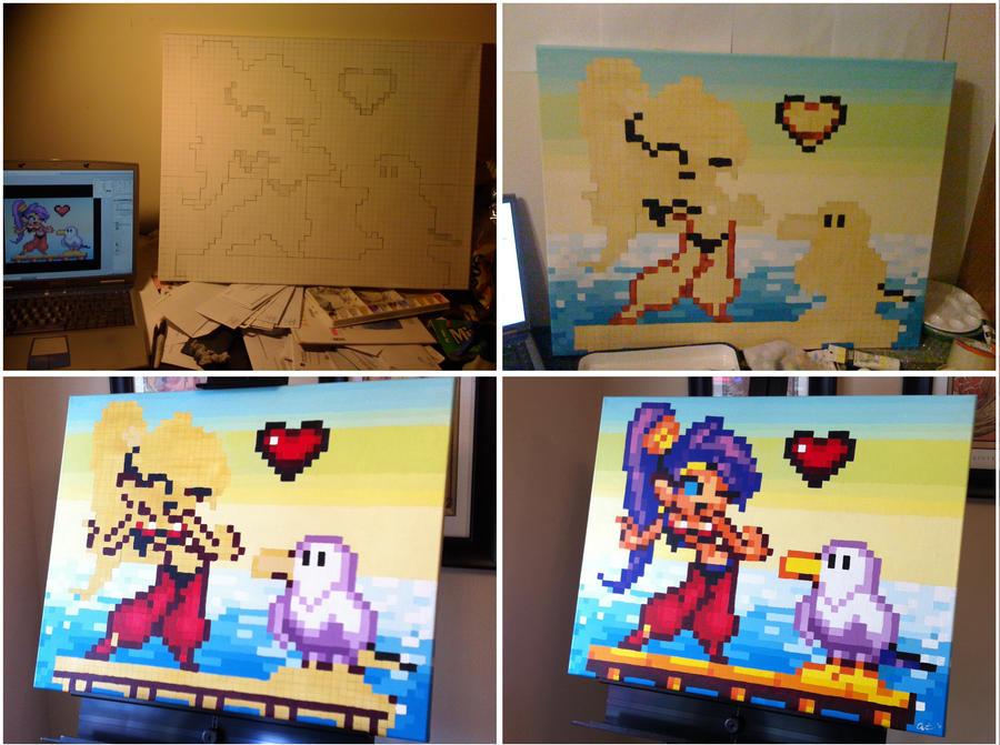 wip - Shantae pixel art painting by IvanDashSmith