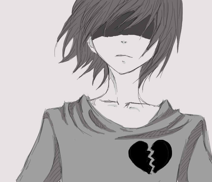 Heart Broken Sad Anime Boy Wallpaper Hd