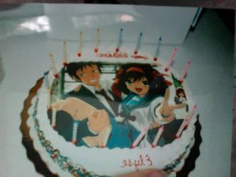 17th birthday cake by EpicFlyingGlitch