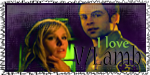 Veronica & Lamb Stamp by TheElegantFaerie