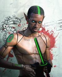 Elf Cyberpunk by Azzurayelos