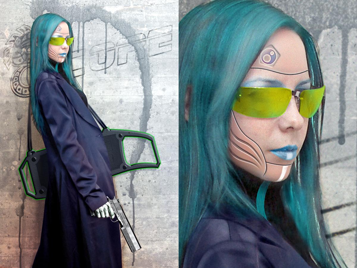 Cyberpunk Decker by Azzurayelos