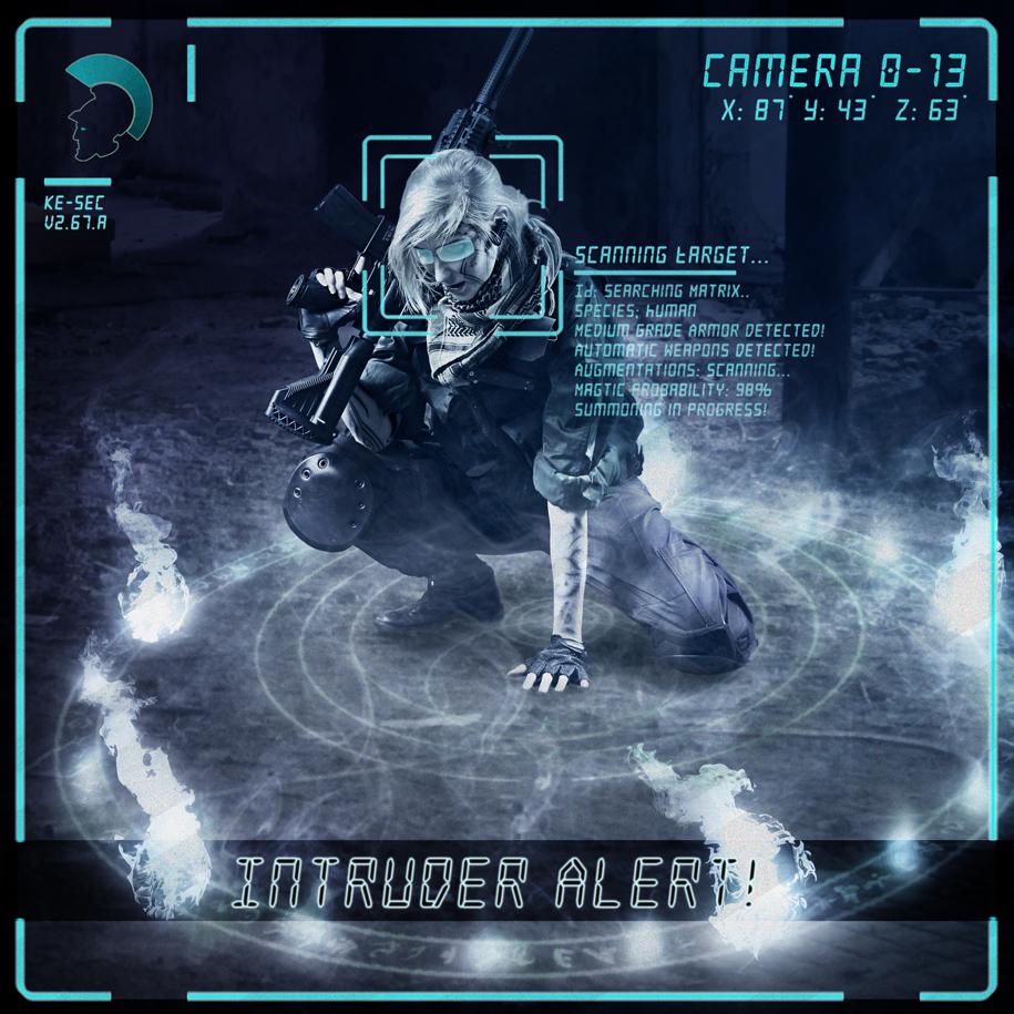 Intruder Alert! (Shadowrun Combat Mage) by Azzurayelos