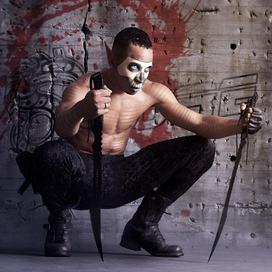 Cyberpunk Ninja (Warpaint Edition) by Azzurayelos