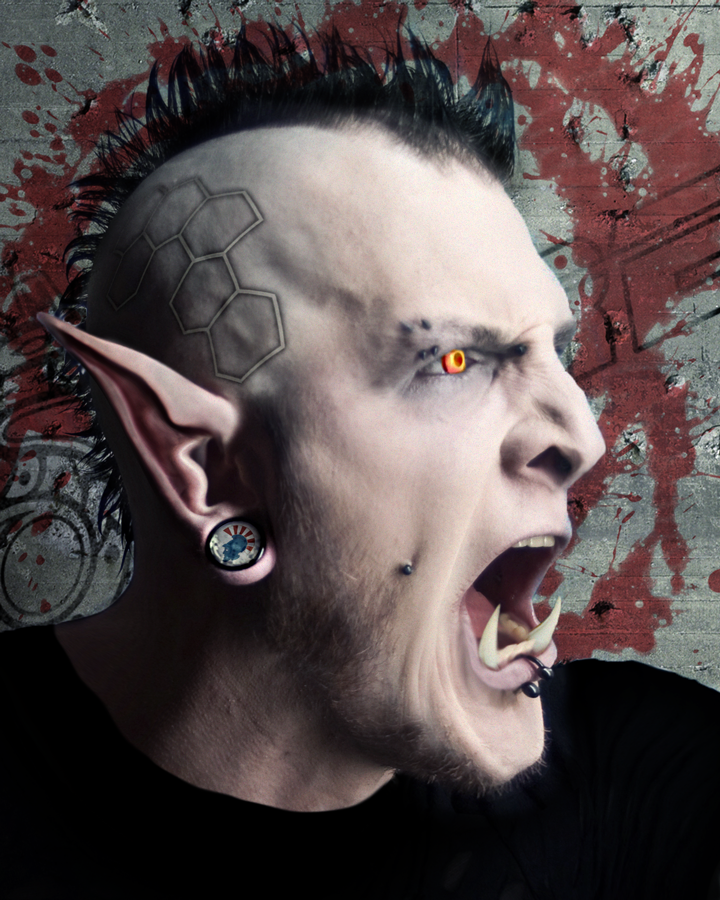 Ork Street Punk by Azzurayelos