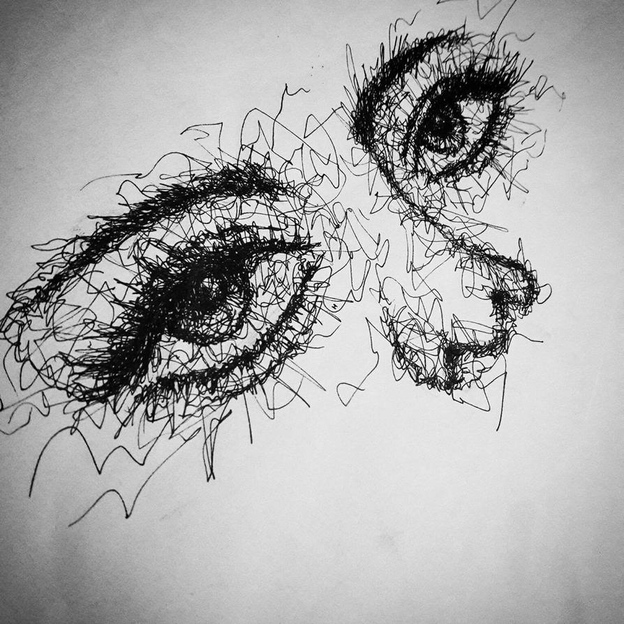 Drawing Of Scribble : Scribble eye art of somebody by heridioprima on deviantart