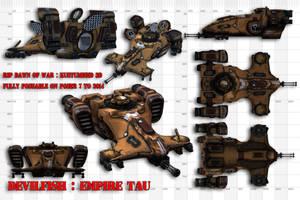 Tau DEVILFISH 3d Warhammer 40k by jibicoco