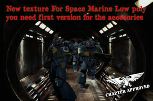 Spacemarine Lowpoly New Texture by jibicoco