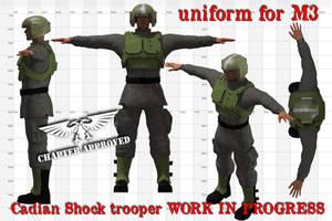 Wip Cadian Shock Trooper by jibicoco