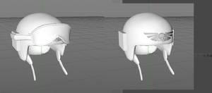 work in progress poly helmet cadian shock trooper by jibicoco