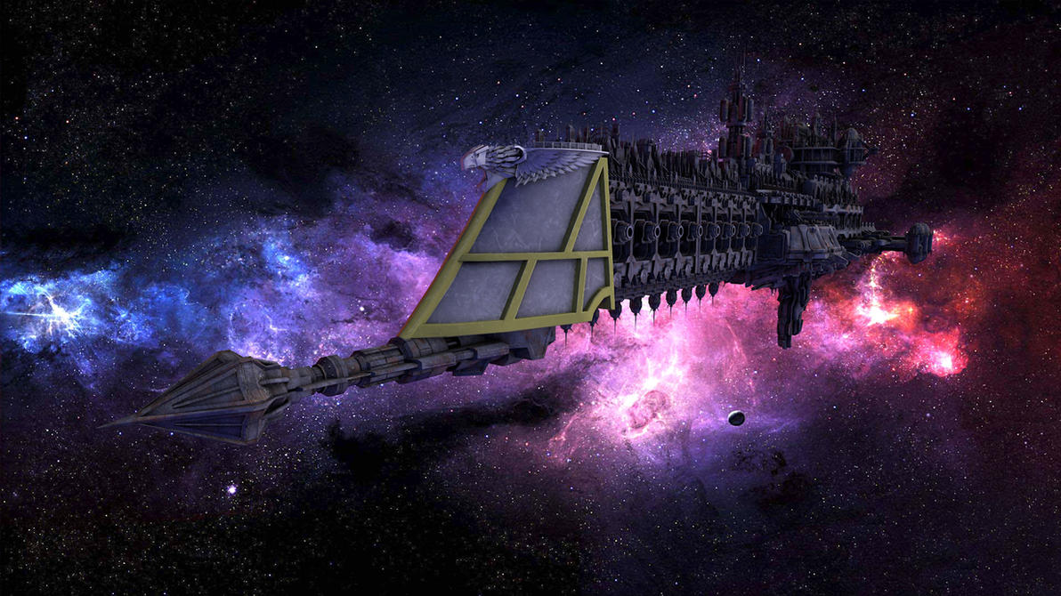 Work in progress battlefleet gothic cruiser by jibicoco