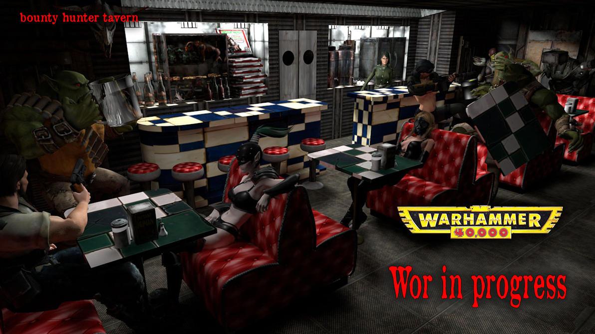 Bar Scene  Wip by jibicoco