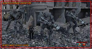 robot assault Nazi by jibicoco