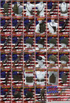 US rangers 3d models all option in the package daz