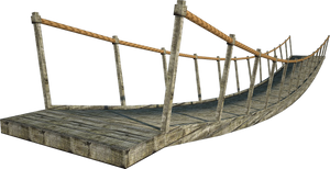Wooden Bridge | Suspension Bridge | PNG