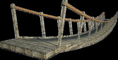 Wooden Bridge | Suspension Bridge | PNG by fumar-porros