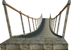 Wooden Bridge 2 | Suspension Bridge 2 | PNG by fumar-porros