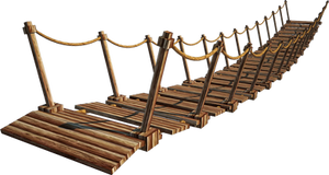 Wooden Bridge 4-A+ | Suspension Bridge 4-A+ | PNG by fumar-porros