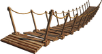 Wooden Bridge 4-A+ | Suspension Bridge 4-A+ | PNG