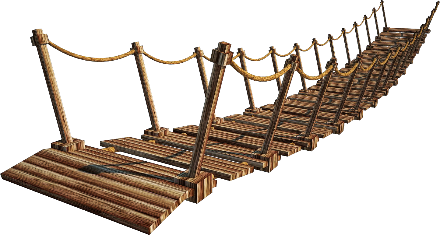 Wooden Bridge 4-A+ | Suspension Bridge 4-A+ | PNG by fumar-porros