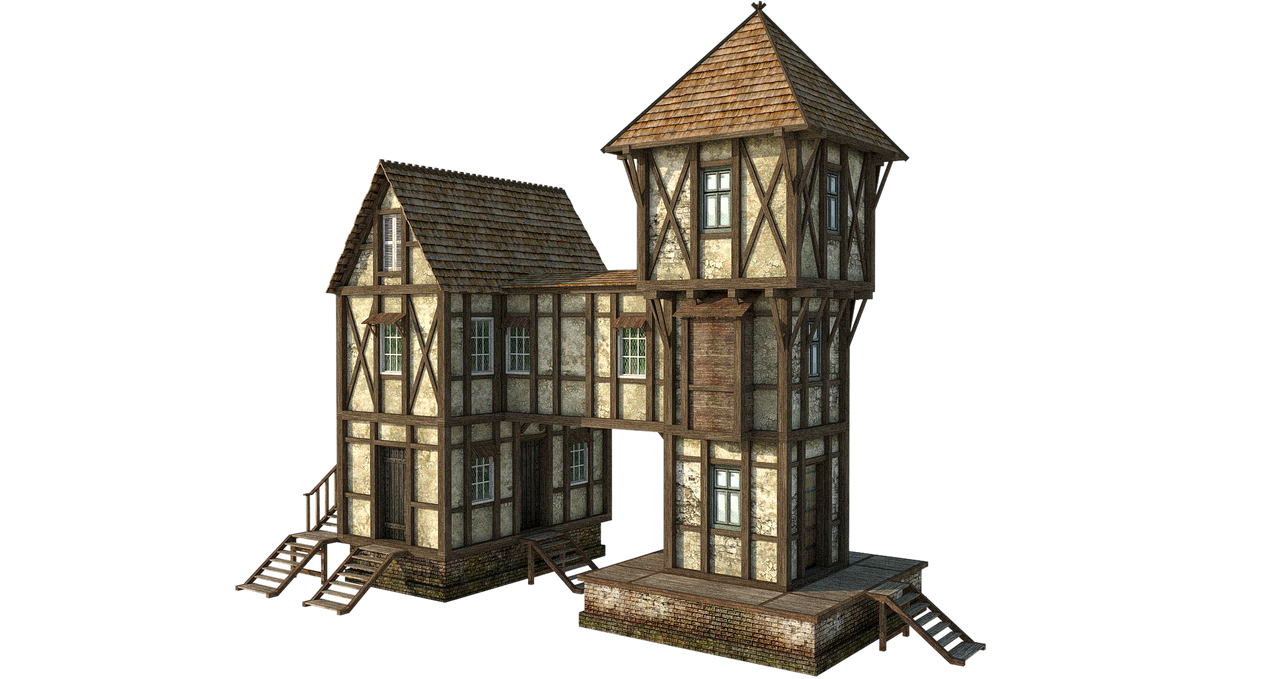 Medieval House 1b | PNG by fumar-porros on DeviantArt