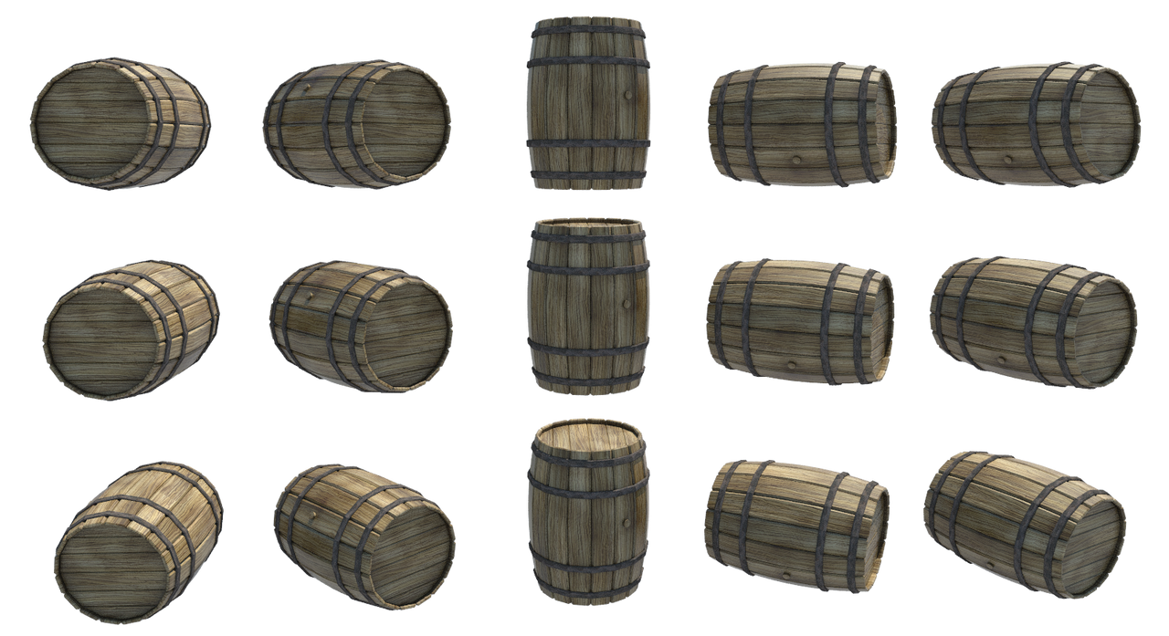 Wooden barrels 1 png by fumar porros on deviantart -  Wooden Barrels 1 Png By Fumar Porros