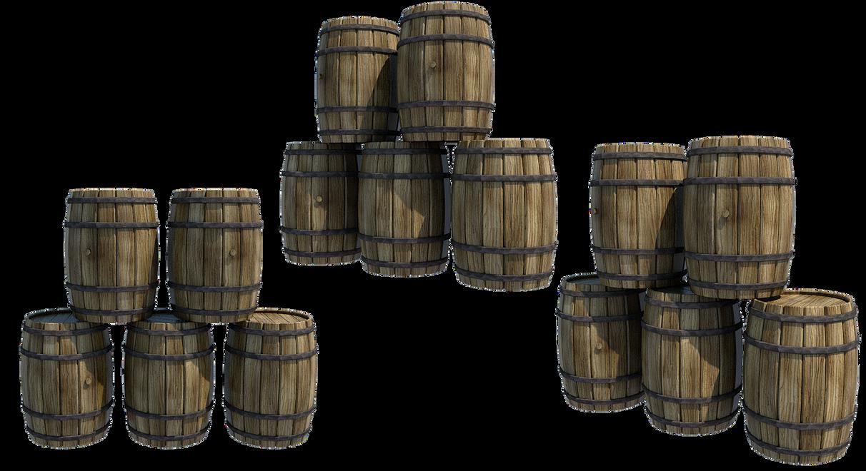 Wooden Barrels 2, PNG by fumar-porros