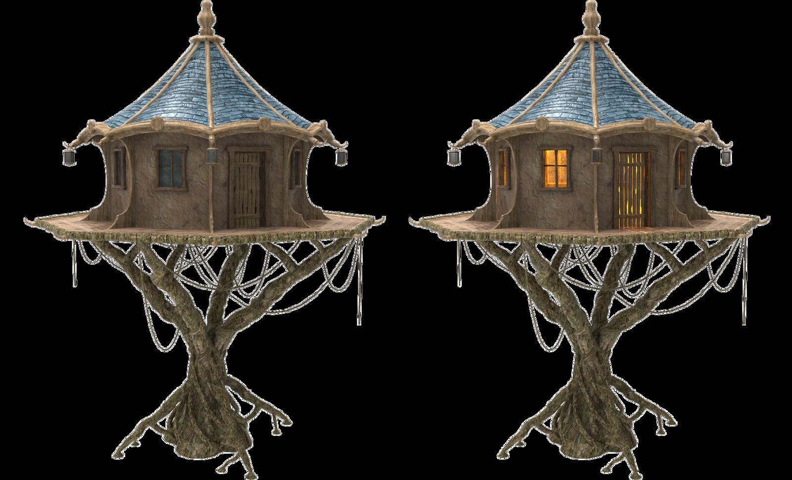 Treehouse House Fairy Tree House X 2 By Fumar Porros On Deviantart