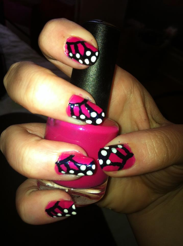 butterfly wing toe nail designs