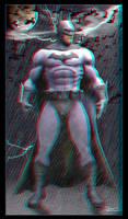 Batman Statue 2D to 3D