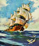 Ship at Sea Anaglyph