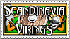 Scandinavia Vikings Group Stamp by Geosammy