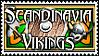 Scandinavia Vikings Group Stamp by Geosammy