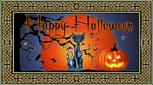 Happy Halloween w Celtic Border