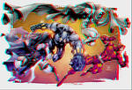 Black Panther, Moon Knight, Daredevil and The Glyp