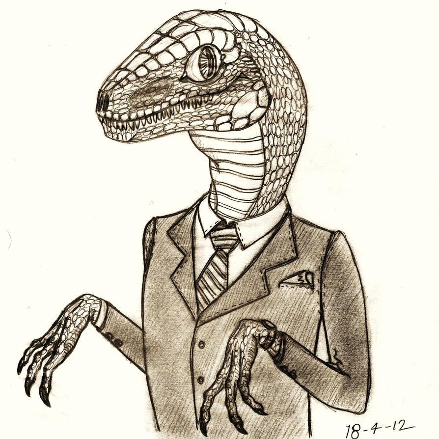 Velociraptor sketch by TheWallProducciones