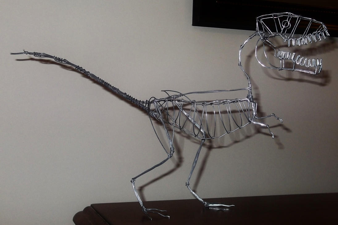 UNFINISHED YET T-REX in wire by TheWallProducciones on DeviantArt