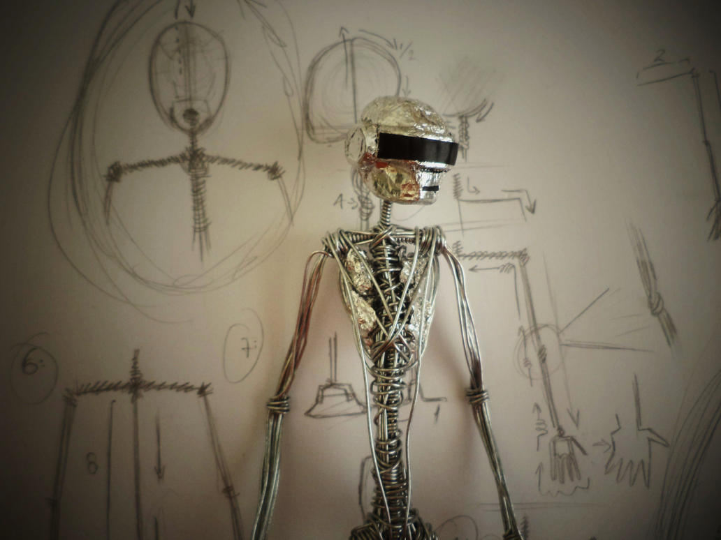 UNFINISHED THOMAS (DaftPunk) in wire by TheWallProducciones