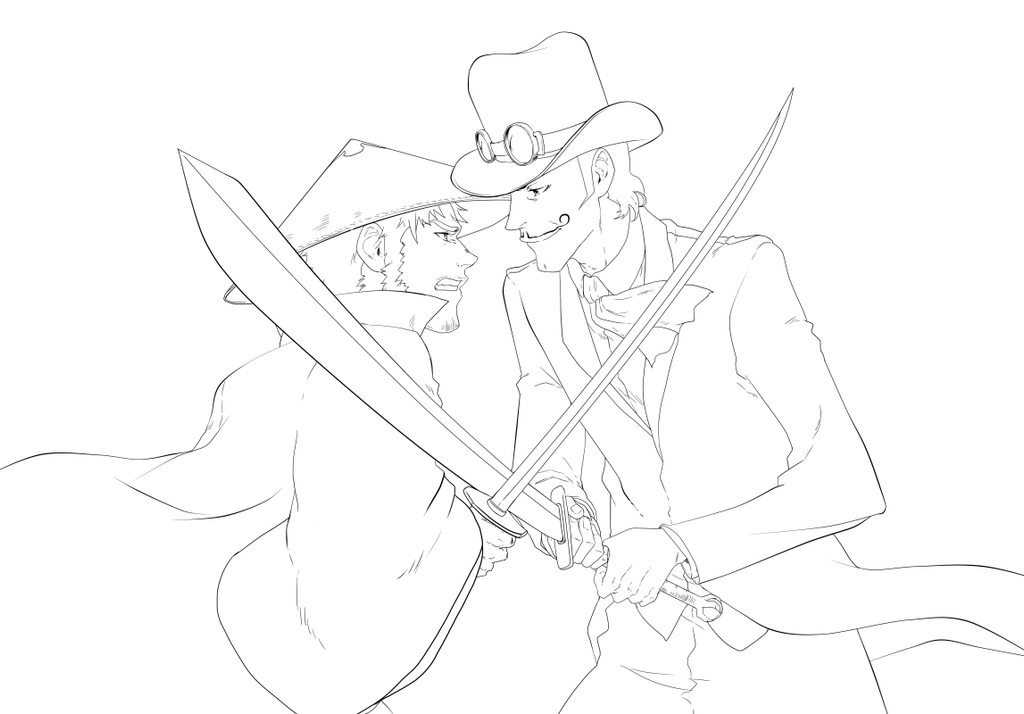 Samurai Tophat Clash of swords! by KENSHINRO7