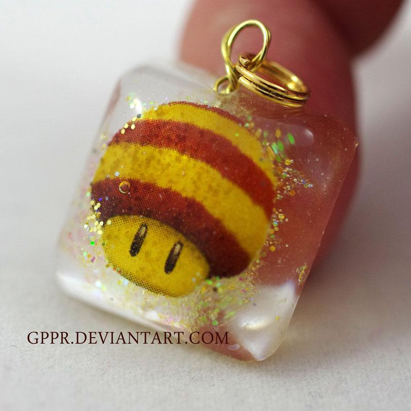 Bee Mushroom Charm by gppr