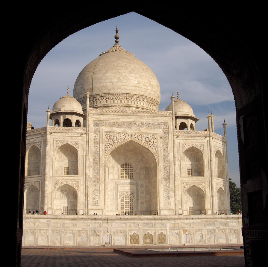 Taj Through Archway by mattyobrien