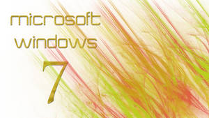 White + Red/Yellow Windows 7 Wallpaper by JaidynM