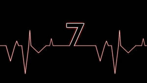 Red Electrocardiogram Windows 7 Wallpaper by JaidynM