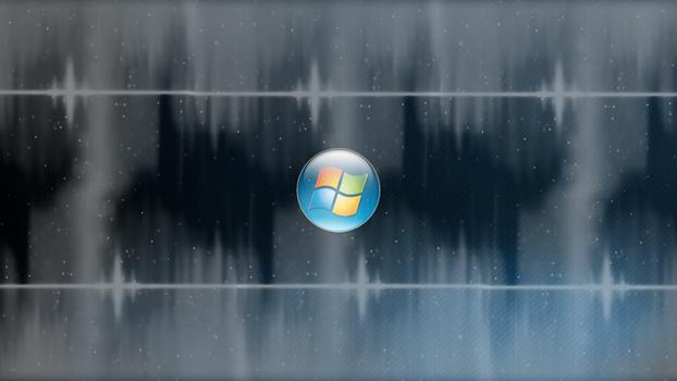 Shadowed Blue Windows 7 Wallpaper