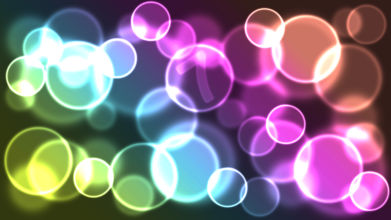 Rainbow Bokeh Windows 7 Wallpaper by JaidynM