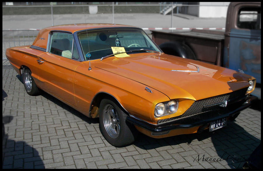 1966 Ford Thunderbird Orange By Compaan Art