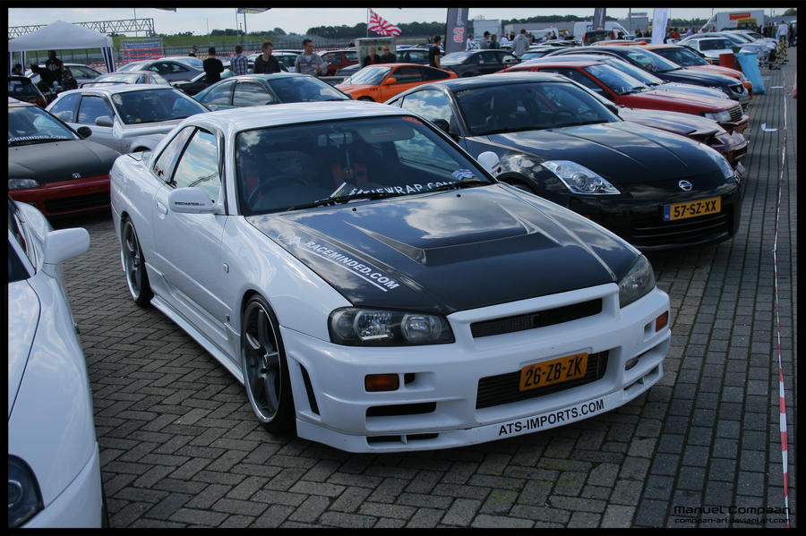 1998 Nissan Skyline R34 GTR by compaanart on DeviantArt
