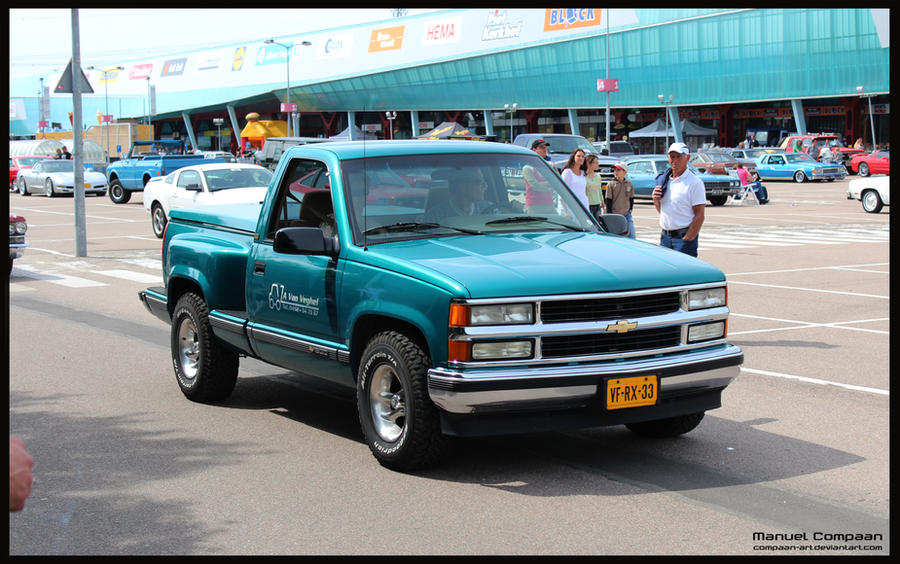 1995 chevy stepside k1500 by compaan art on deviantart