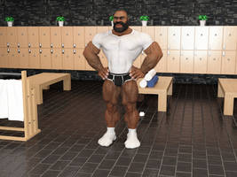 Musclebear at the Gym by JoeFixit1