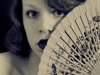 Girl with a Fan by Chocolatecookiecrumb